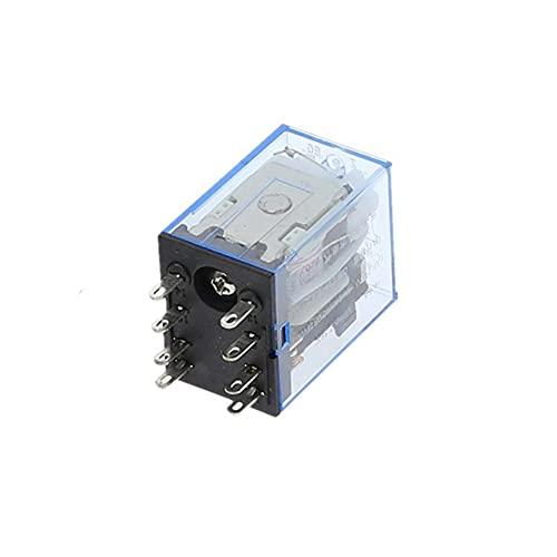 JIANGFBH Relé 1 UNIDS MY2P HH52P MY2NJ Relé Bobina General DPDT Micro Mini Relaje Electromagnético Interruptor con LED AC 110V 220V 380V DC 12V 24V 36V (Size : AC 220V)