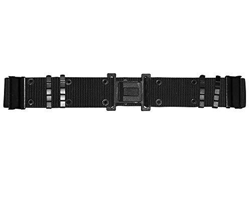 G8DS® US KOPPEL LC2 Schwarz Koppel Hosengürtel mit Klickverschluss