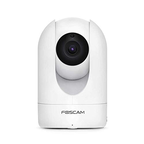 Foscam Home Security Camera R4S 4MP(2K) WiFi Camera, 2.4/5GHz Wireless IP Indoor Camera with AI Human Detection & Sound Detection, 33ft Night Vision, 2-Way Audio,Compatible with Alexa, White