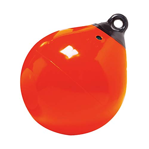 Taylor Made Products 61140 Tuff End Inflatable Vinyl Boat Buoy, Orange, 9 inch Diameter