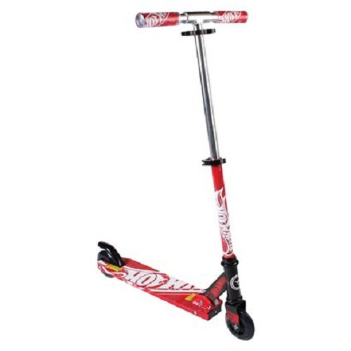 HOT Wheels RED Folding Scooter W/light up Wheels