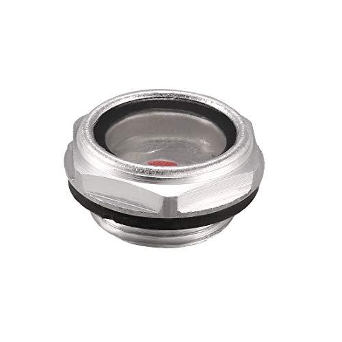 sourcingmap Arandela de goma de la mirilla de nivel de aceite de 24mm de diámetro de rosca para el compresor de aire