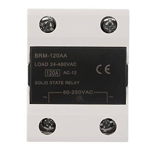 RENJIFAN Relay, Módulo de relé 24-480VAC SSR relé de estado sólido for las luces de señales, semáforos, CNC mecánica Sistema de Control Remoto (BRM-120aa)