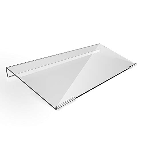 Acrylic Tilted Computer Keyboard Stand for Compact Keyboard, 78 Keys Keyboard, with White Silicone Strip, 11.8 Inch Width