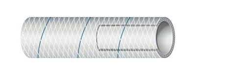 Sierra International Clear White PVC Tubing Polyester Reinforced Blue-Tracer 5/8