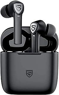 SoundPEATS Audífonos Bluetooth, TrueCapsule 2 Audífonos Bluetooth 5.0 In-Ear Audífonos Inalámbricos Deportivos Estéreo Sonido de Alta Definición, Manos Libres Micrófono Incorporado Control Tactil con Caja de Carga Portátil para iOS y Android Total 40 Horas