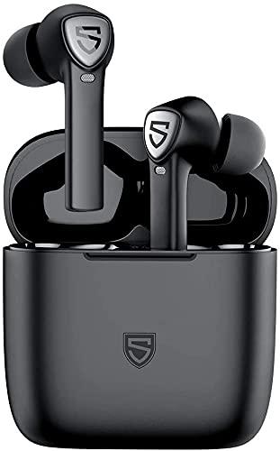 SOUNDPEATS TrueCapsule2 True Wireless-Ohrhörer mit 4 Mikrofonen, In-Ear-Erkennung, Bluetooth 5.0-Kopfhörern, 40 Stunden Spielzeit, Einzel- / Doppelmodus, USB-C-Schnellladung, Touch-Steuerung