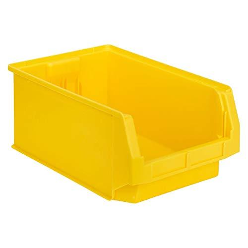 SSI Schäfer Kunststoffbox Sortierbox Stapelbox LF 532, Aufbewahrung, Made in Germany, Polypropylen (PP), L 500 x B 312 x H 200 mm, 23,5 l, Gelb