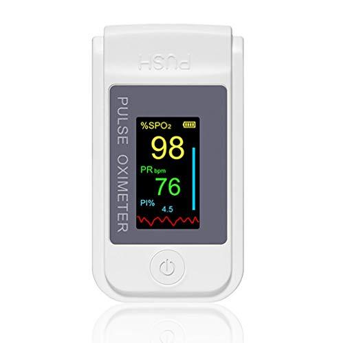 Nake Fingersättigungssensor Sauerstoffsättigung Pulsuhr Pulsuhr in verschiedenen Farben mit OLED-Display (weiß)
