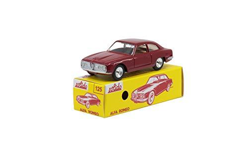 Solido S1001251 Alfa Romeo 2600 1963-1980 Serie 100-Maqueta de Coche a Escala 1:43, en Caja de cartón con Tapa Deslizante, Color Rojo (421436630)