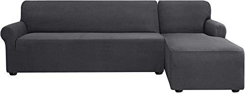 HCYY Funda elástica para sofá en forma de L, de tela de licra seccional, antideslizante, protector de muebles