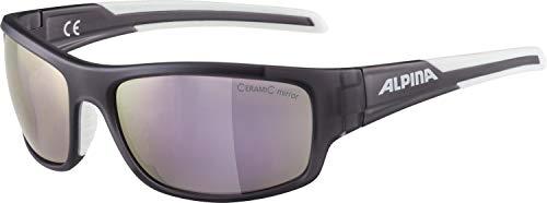 ALPINA TESTIDO Sportbrille, Unisex– Erwachsene, nightshade matt-white, one size