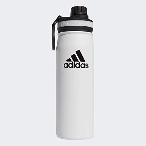 adidas18/8 Stainless Steel Hot/Cold Insulated Water Bottle White/Black, One Size