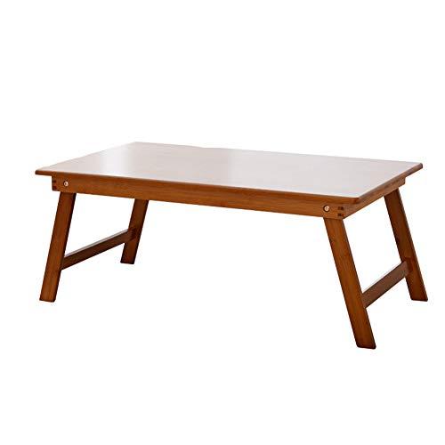 Klaptafel uitklapbare eindstafel van massief hout, bureau van bamboe, voor binnen en buiten, klaptafel, laptop, kantoor, groentententafel 70x40cm