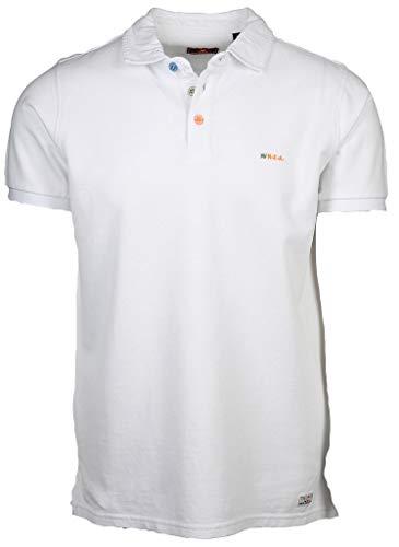 New Zealand Auckland Herren Poloshirt Waiapu Größe M Weiß (weiß)