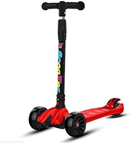 KTYXGKL Kinderroller fürrad H nverstellbarer Faltender Flash-Musikroller 28x63x80cm Kinder Roller (Farbe   A)