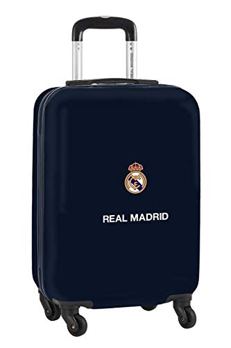 safta 612034851 Trolley Cabina 20', Maleta Real Madrid CF, Azul Marino