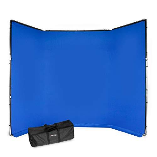 Manfrotto MLBG4301KB Chroma Key FX - Kit de Fondo (4 x 2,9 m), Color Azul