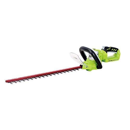 Greenworks Tools taille-haie à batterie G24HT57 (Li-Ion 24 V 57 cm longueur de coupe 18 mm espacement des dents 2800 coupes/min poignée supplémentaire réglable sans batterie ni chargeur), 2200107