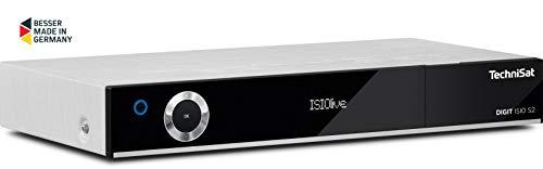 TechniSat DIGIT ISIO S2 - HD Sat-Receiver mit Twin-Tuner (HDTV, DVB-S2, PVR Aufnahmefunktion via USB oder im Netzwerk, Smart-TV, CI+, HDMI, App-Steuerung, UPnP-Livestreaming) silber