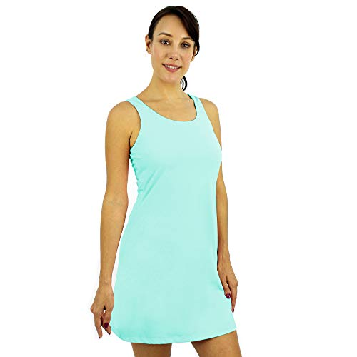 SAVALINO Women's Tennis Dress (M, Mint Green)