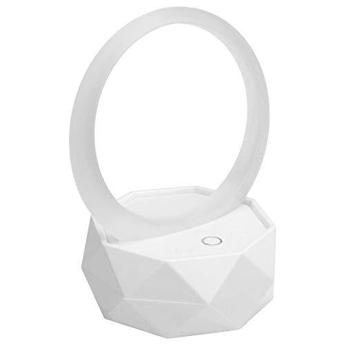 PUSOKEI Mini Altavoz Bluetooth, Altavoz inalámbrico portátil, con luz Nocturna Colorida, para Sala de Estar, Dormitorio, Estudio, Soporte para Android, para PC, para iOS(Blanco)