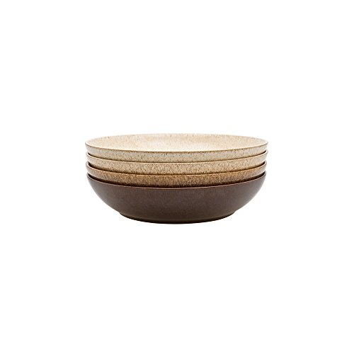 Denby 395042044 Studio Craft 4 Piece Pasta Bowl Set, Ceramic, Mixed, 23 x 23 x 9.5 cm