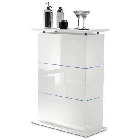 Web Convenienza Mobile Bar Moderno in Finitura Bianco Laccato Lucido con possibilità di Illuminazione LED RGB (Senza luci)