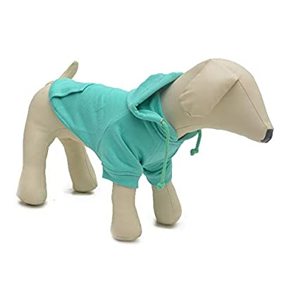 lovelonglong 2020 New Pet Clothing Clothes Dog Coat Hoodies Winter Autumn Sweatshirt For Small Medium Large Size Dogs 11 Colors 100% Cotton Turquoise XS