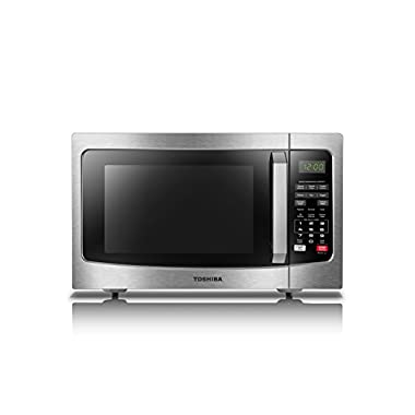 Toshiba EM131A5C-SS Microwave Oven with Smart Sensor Easy Clean Interior and LED Lighting, 1.2 Cu.ft/1100W, Stainless Steel