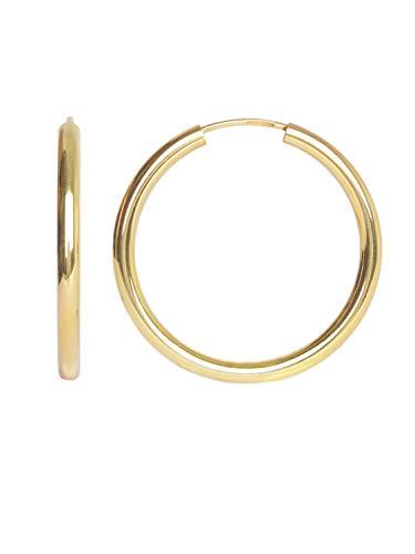 Creolen Ohrringe Gelbgold 333 Gold (8 Karat) Ø 30mm Goldcreolen Goldohrringe Damenohrringe Ohrschmuck Paloma Blanca V0002533