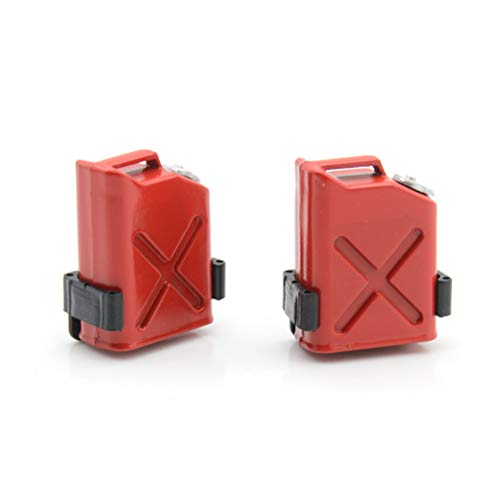 7thLake 2 Stücke RC Rock Crawler 1:10 Zubehör Mini Kraftstofftank für Cc01 Axial Scx10