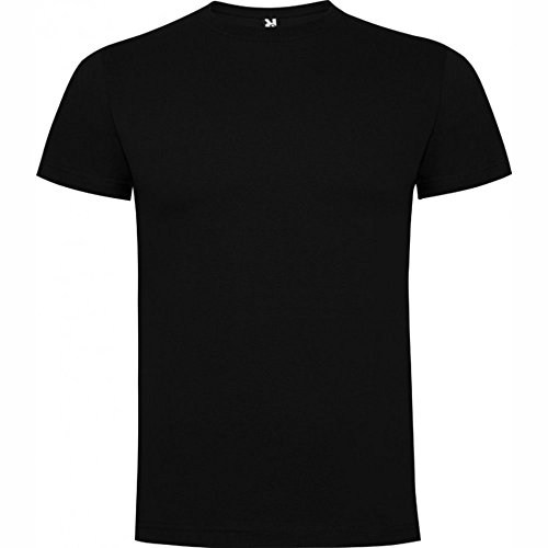Camiseta de manga corta, de cuello redondo ROLY (L, NEGRO)