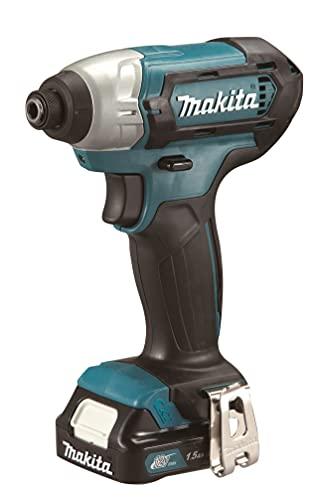 Makita TD110DZ TD110DZ-AVVITATORE AD IMPULSI 10,8V 1/4'-110 NM, Senza batterie, Blue