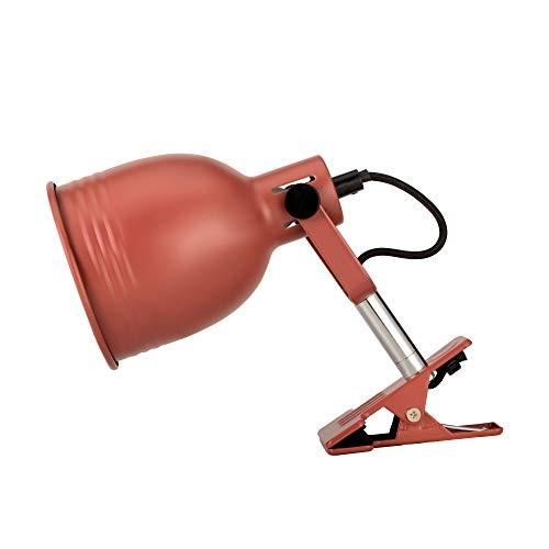Pauleen 48141 Clip of Glow Klemmleuchte aus Metall Schreibtischlampe zum Klemmen Industry -Look für Loft Design Lampe max25W E14 Braun 230V Metall