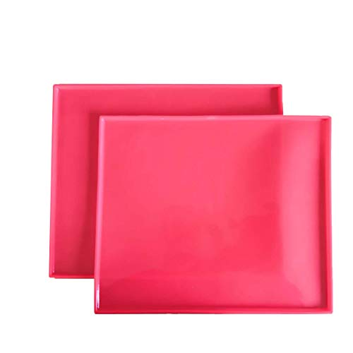 Silicone Baking Mat Set of 2 Non-Stick Reusable Flexible Heat Resistant Red, 12.210.4In