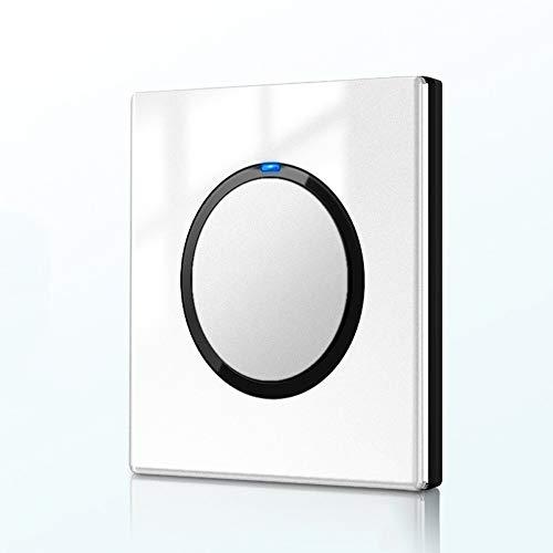 Ploutne Pura plana Cualquier Punto de conmutación 86 Clave Oculta interruptor de luz blanca Espejo acrílico clave 3D interruptor del panel de interruptor de control de artefacto de iluminación interio