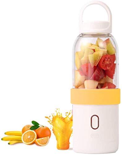 PULLEY - Mini blender portable - Mixeur électrique - Mixeur personnel - Pour petits fruits - Mixeur de jus électrique portable - 500 ml - Couleur : orange.
