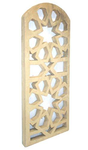 Betonelement Tor mit Stilelement Stern in Sandstein Optik