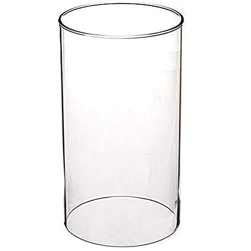 D&LE Hurrikan Kerzenhalter Glas, Open Ended Glas Zylinder-vase, Klarglas Lampenschirm Für Hochzeiten, Partei, Spa-transparent 9x15cm(4x6inch)