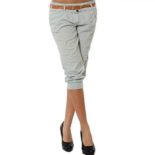 N\P Las Mujeres Lápiz Pantalones De Moda Color Sólido Flaco Longitud De La Pantorrilla Pantalones Casual Tramo 3/4 Pantalones