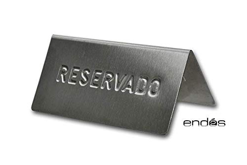 PLACA RESERVADO ACERO INOXIDABLE