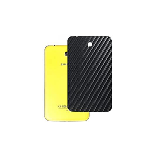 VacFun 2 Piezas Protector de pantalla Posterior, compatible con Samsung Galaxy Tab 3 Kids Edition 7', Película de Trasera de Fibra de carbono negra Skin Piel