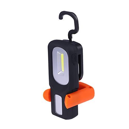 Uonlytech - Linterna de Trabajo multifunción con luz LED (USB, Recargable, magnética), Color Naranja