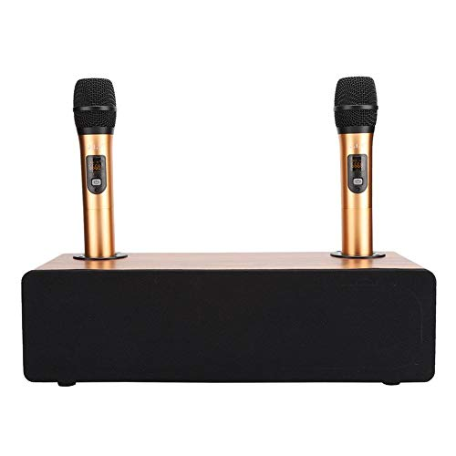 Home Audio-apparaat met draadloze microfoon, Bluetooth Karaoke-luidsprekers, Smart Noise Reduction DSP-processor, Karaoke-apparatuur voor Home Entertainment, Gift(EU)