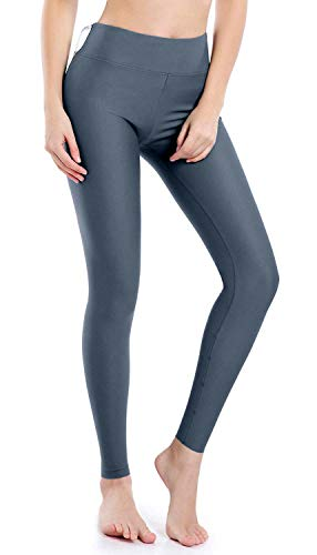 Wirezoll Damen Leggings Blinkdicht Yoga Leggings Fitnesshose, Grau mit Innenfleece, M