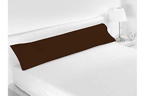 SABANALIA - Funda de Almohada Combina (Disponible en Varios tamaños y Colores), Cama 150-170 x 45, Chocolate