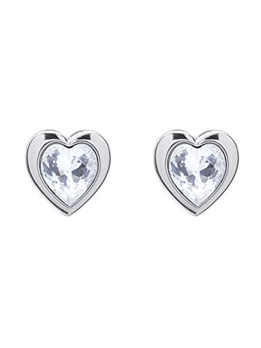 Ted Baker Han Crystal Heart Earrings Silver Tone