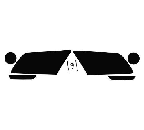 Subject 9 - Fits: Mustang (Non-GT) Pre-Cut Vinyl Overlay Headlight Plus Tint (2010 2011 2012) Dark