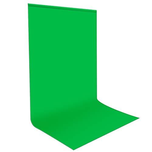 Neewer® Pro 10 x 20 pies / 3 x 6M Plegable Telón de Fondo de 100% Pura Muselina para Estudio fotográfico Fondo fotográfico para Fotografía, Vídeo y Televisión (Verde)